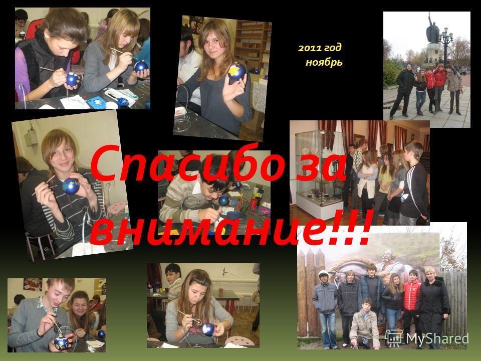 2011 год ноябрь Спасибо за внимание!!!