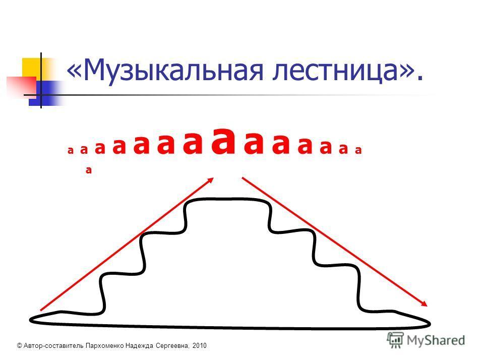 «Музыкальная лестница». а а а а а а а а а а а а а а а © Автор-составитель Пархоменко Надежда Сергеевна, 2010