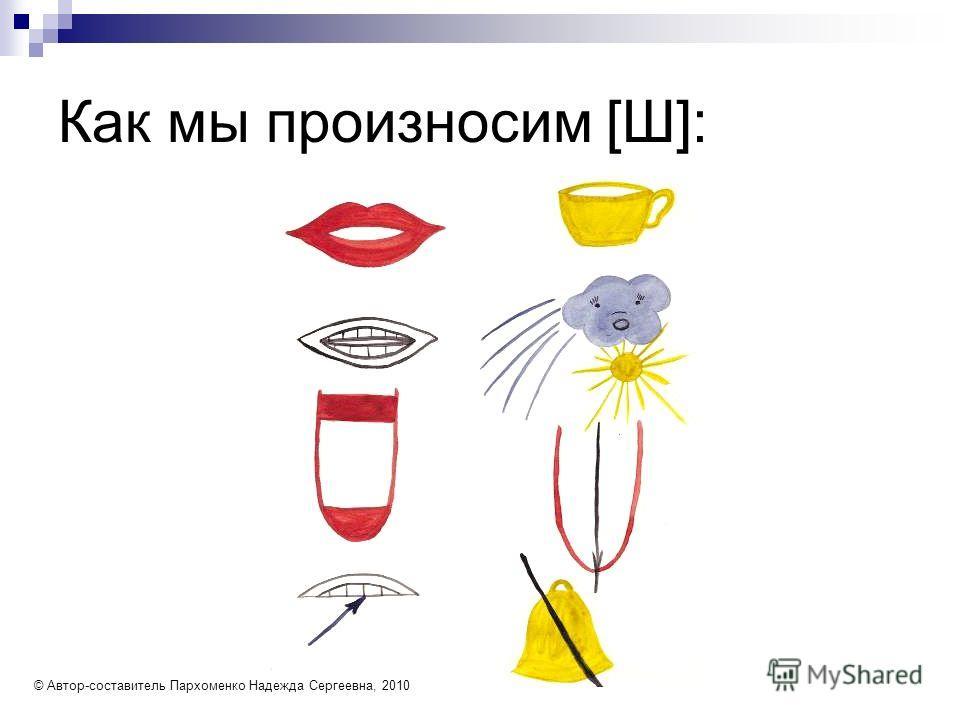 Как мы произносим [Ш]: © Автор-составитель Пархоменко Надежда Сергеевна, 2010