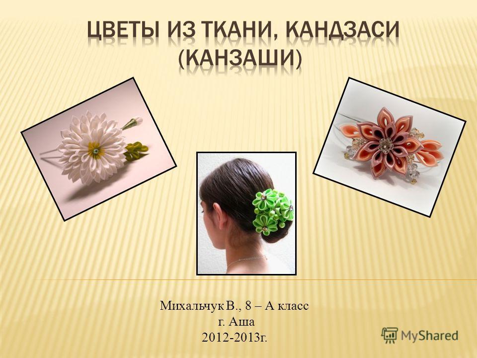Михальчук В., 8 – А класс г. Аша 2012-2013г.
