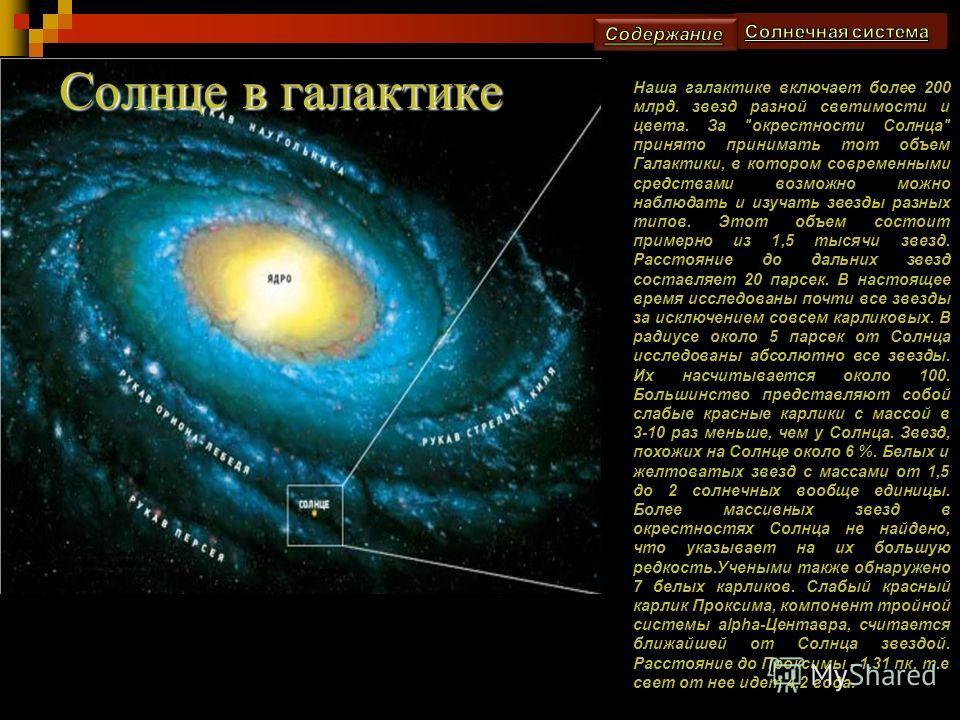 Солнце и обращающиеся вокруг него небесные тела – 9 планет, более 63 спутников, четыре системы колец у планет-гигантов, десятки тысяч астероидов, несметное количество метеороидов размером от валунов до пылинок, а также миллионы комет. В пространстве