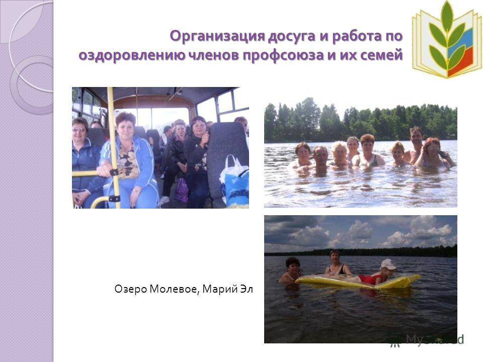 Организация досуга и работа по оздоровлению членов профсоюза и их семей Озеро Молевое, Марий Эл