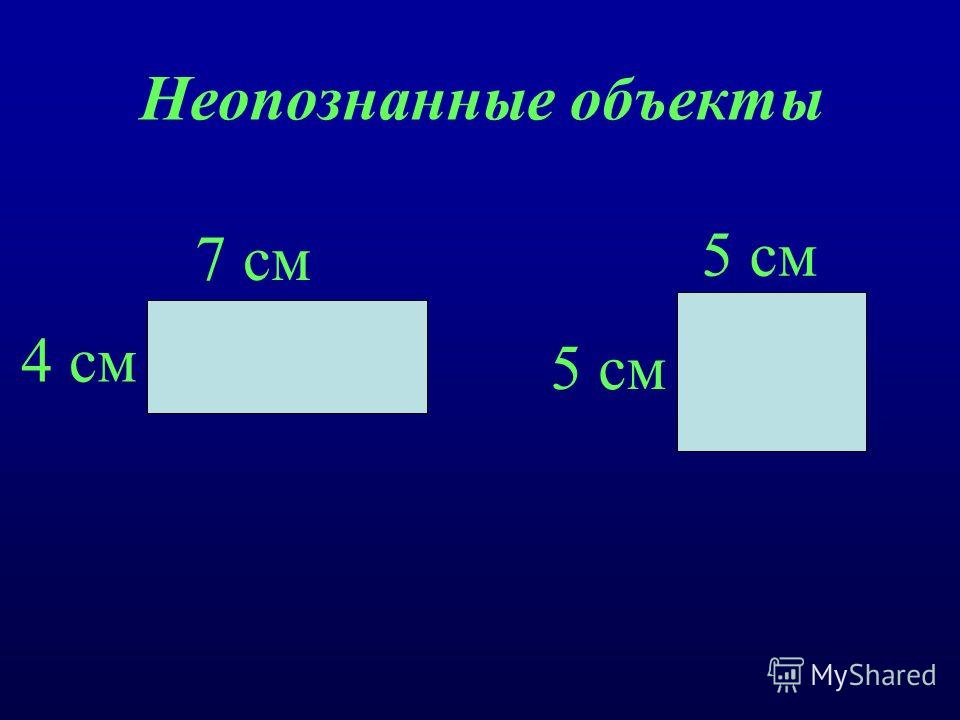 Неопознанные объекты 7 см 4 см 5 см