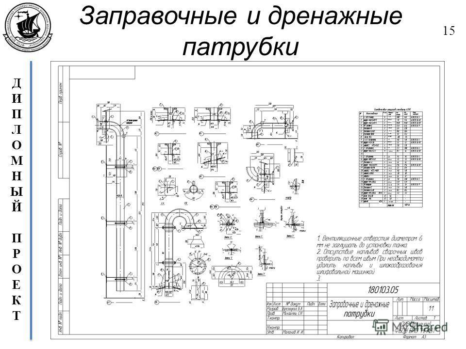 ДИПЛОМНЫЙПРОЕКТДИПЛОМНЫЙПРОЕКТ Заправочные и дренажные патрубки 15