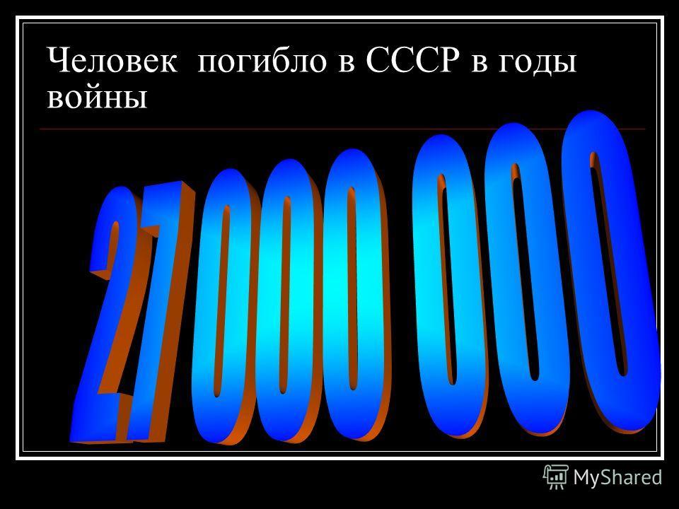 Человек погибло в СССР в годы войны
