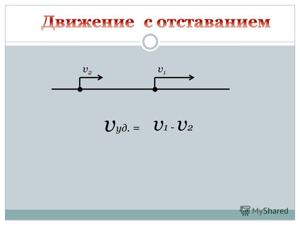 v2v2 v1v1 v уд. = v 1 - v 2