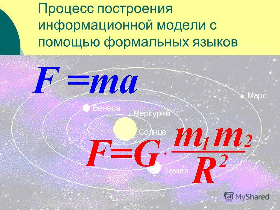 Процесс построения информационной модели с помощью формальных языков