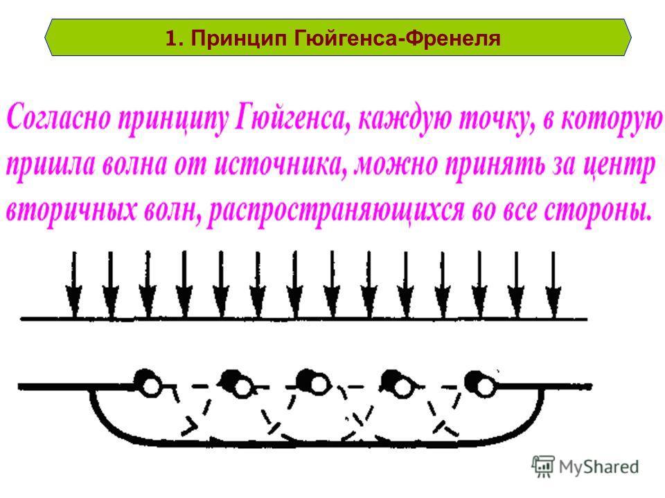 1. Принцип Гюйгенса-Френеля