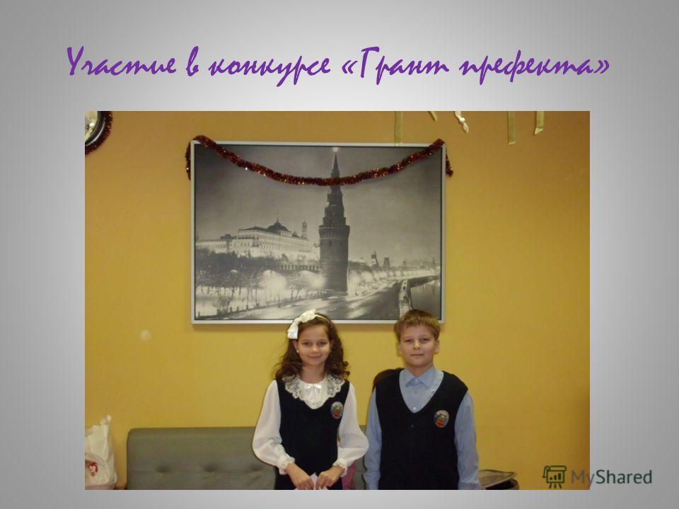 Участие в конкурсе «Грант префекта»