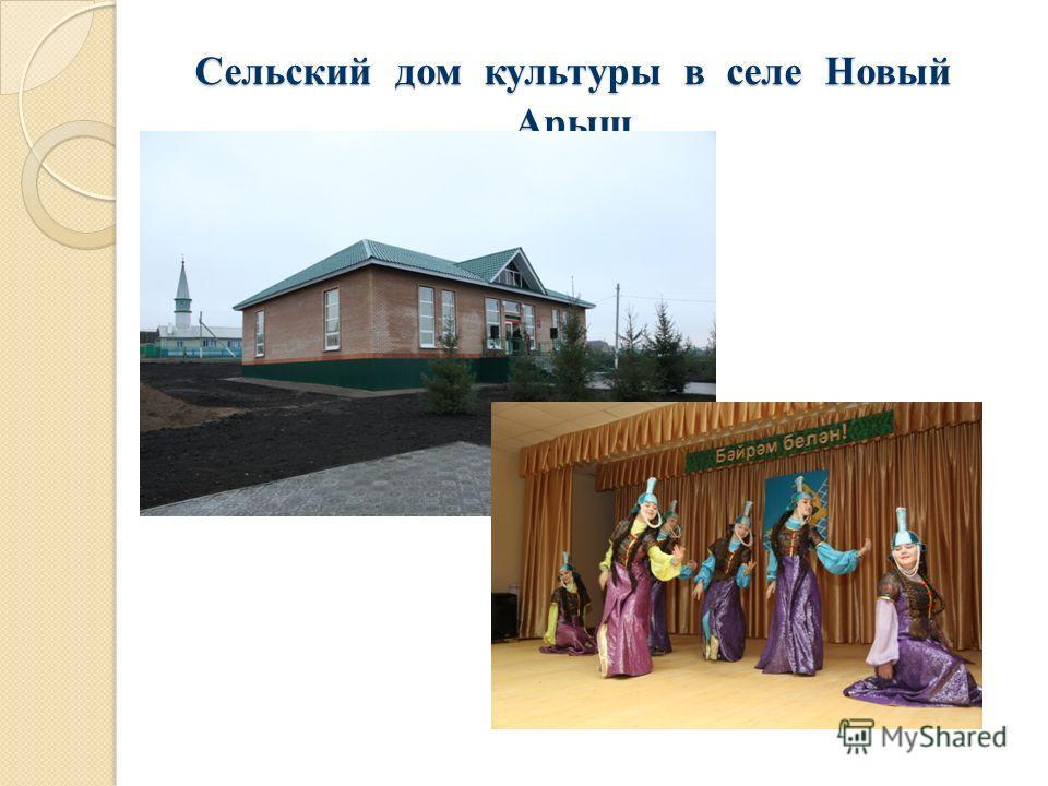 Сельский дом культуры в селе Новый Арыш