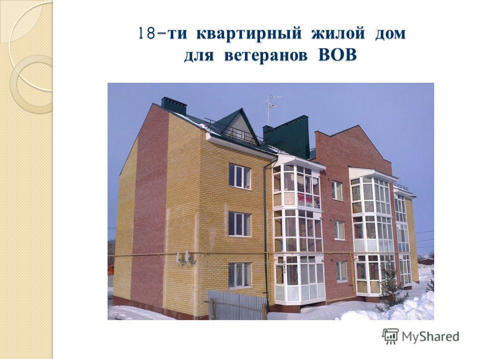 18- ти квартирный жилой дом для ветеранов ВОВ