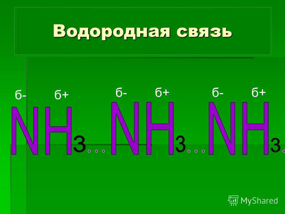 Водородная связь б- б+