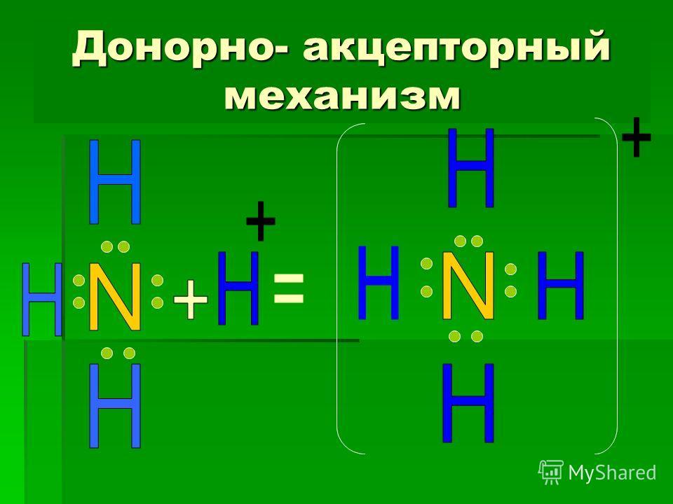 Донорно- акцепторный механизм