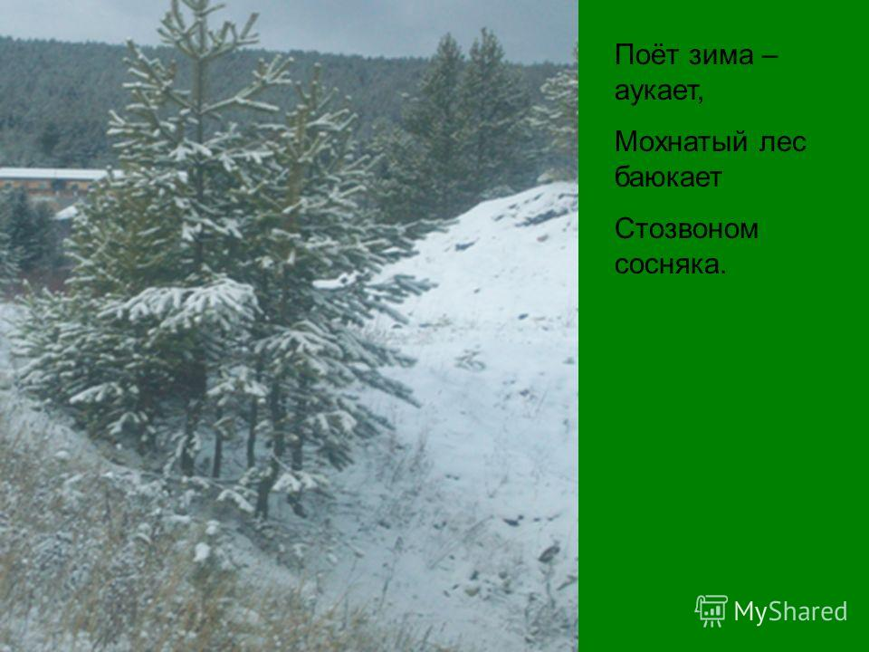 Вот север, тучи нагоняя, Дохнул, завыл, - и вот сама Идёт волшебница зима!