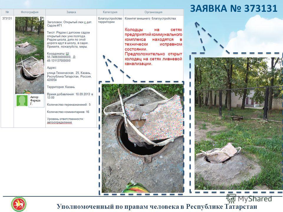 Уполномоченный по правам человека в Республике Татарстан _______________________________________________________________________________ ЗАЯВКА 373131