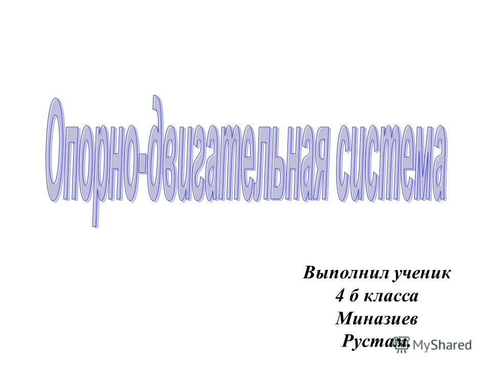 Выполнил ученик 4 б класса Миназиев Рустам.