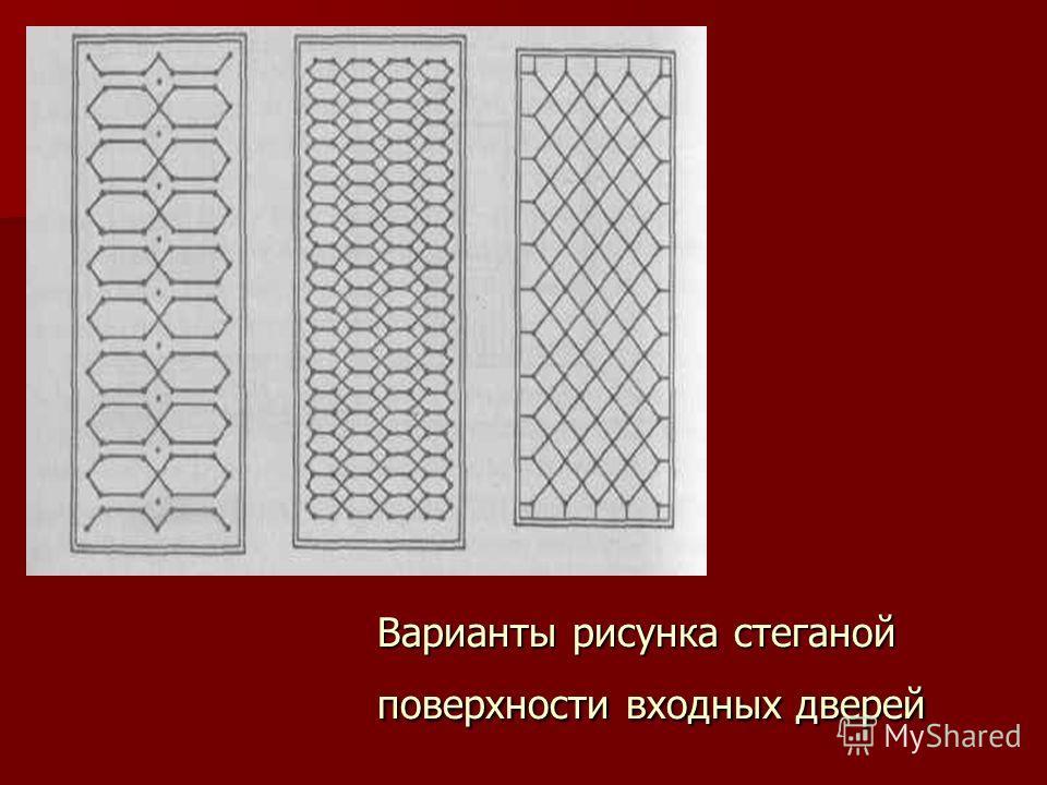Варианты рисунка стеганой поверхности входных дверей