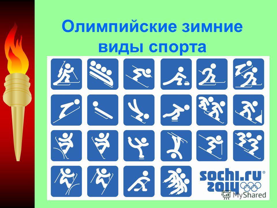 Олимпийские зимние виды спорта