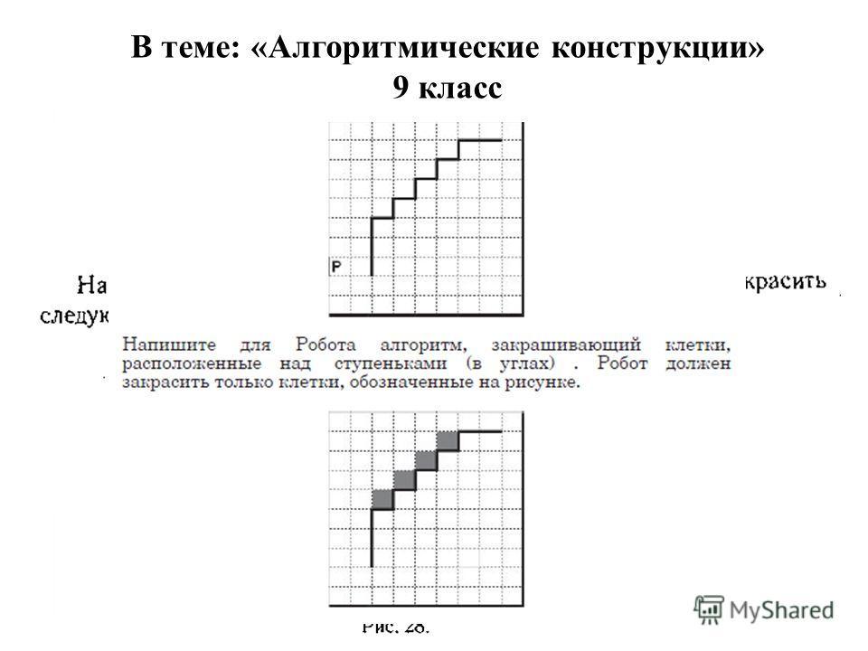 В теме: «Алгоритмические конструкции» 9 класс