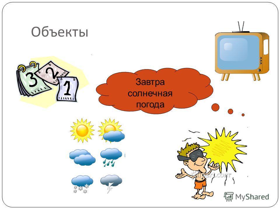Объекты Завтра солнечная погода