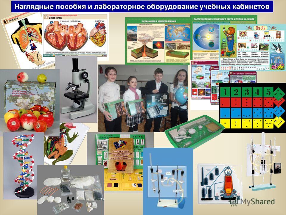 Наглядные пособия и лабораторное оборудование учебных кабинетов