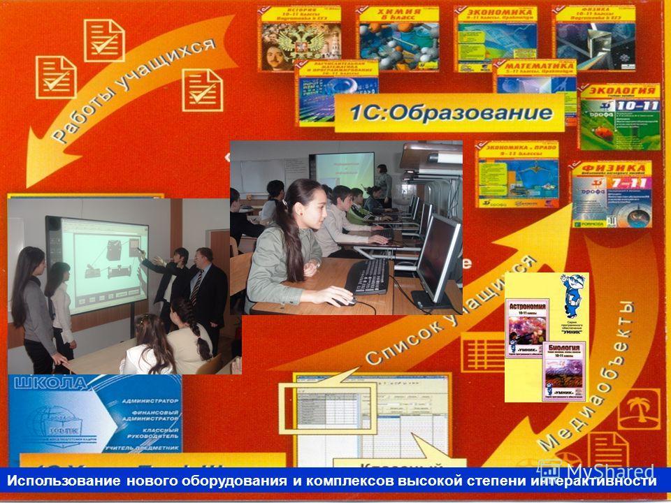 Использование нового оборудования и комплексов высокой степени интерактивности