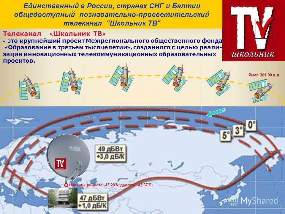 Ямал 201 90 в.д. Единственный в России, странах СНГ и Балтии общедоступный познавательно-просветительский телеканал