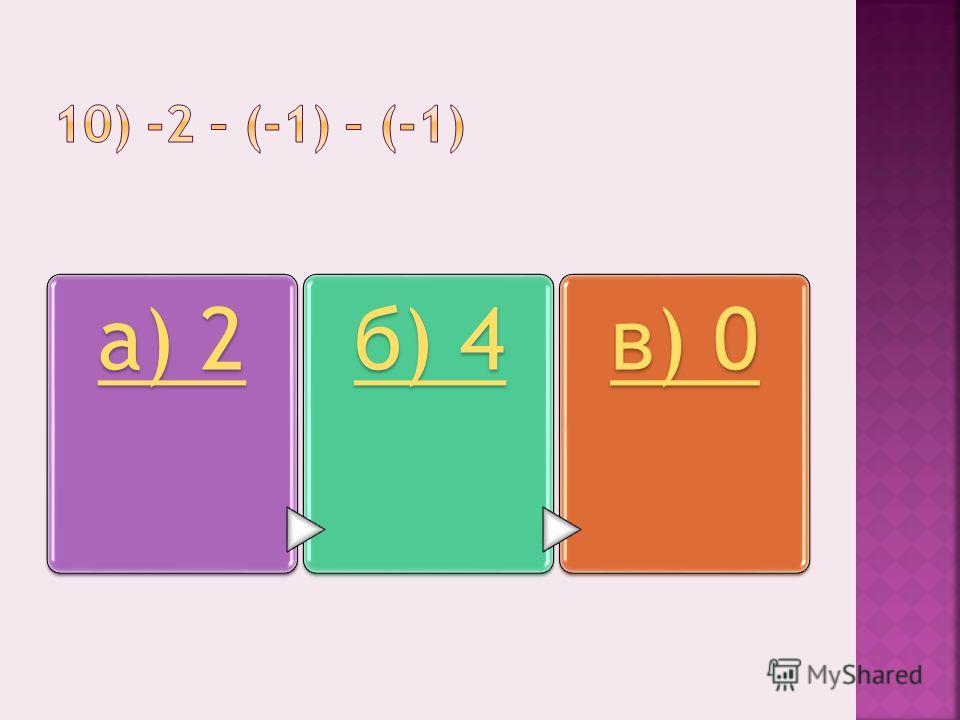 а) 2б) 4в) 0