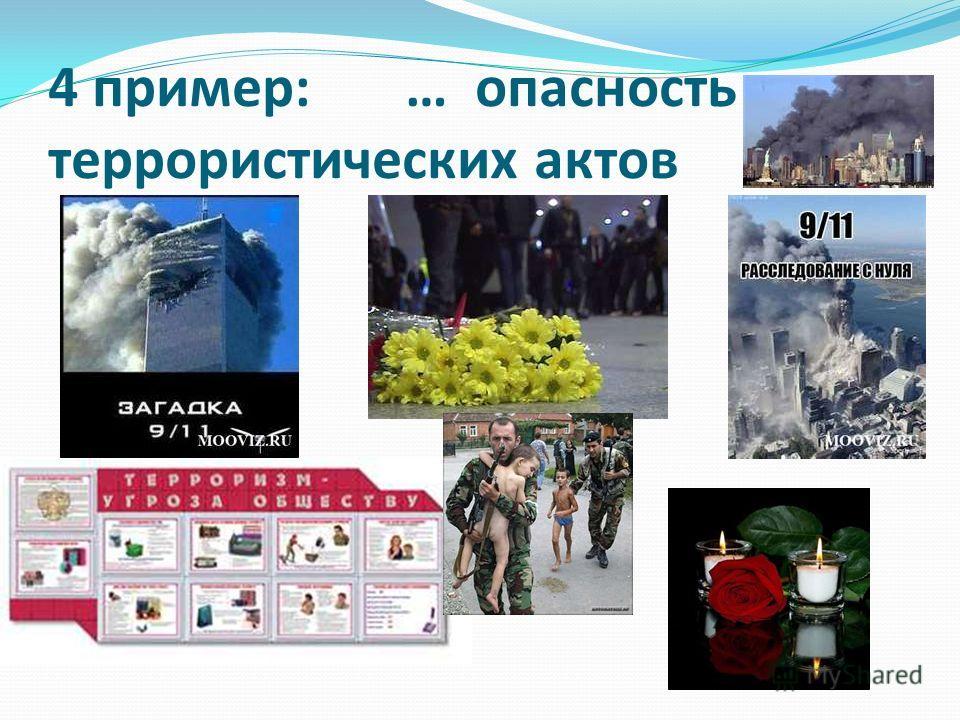 4 пример: … опасность террористических актов