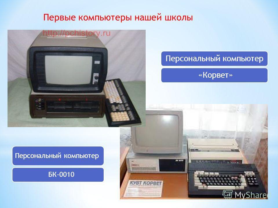 Первые компьютеры нашей школы Персональный компьютер БК-0010 Персональный компьютер «Корвет»