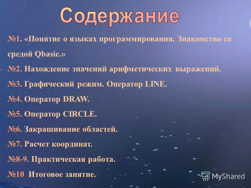 Drawing Lines In Qbasic : Презентация на тему quot «Понятие о языках