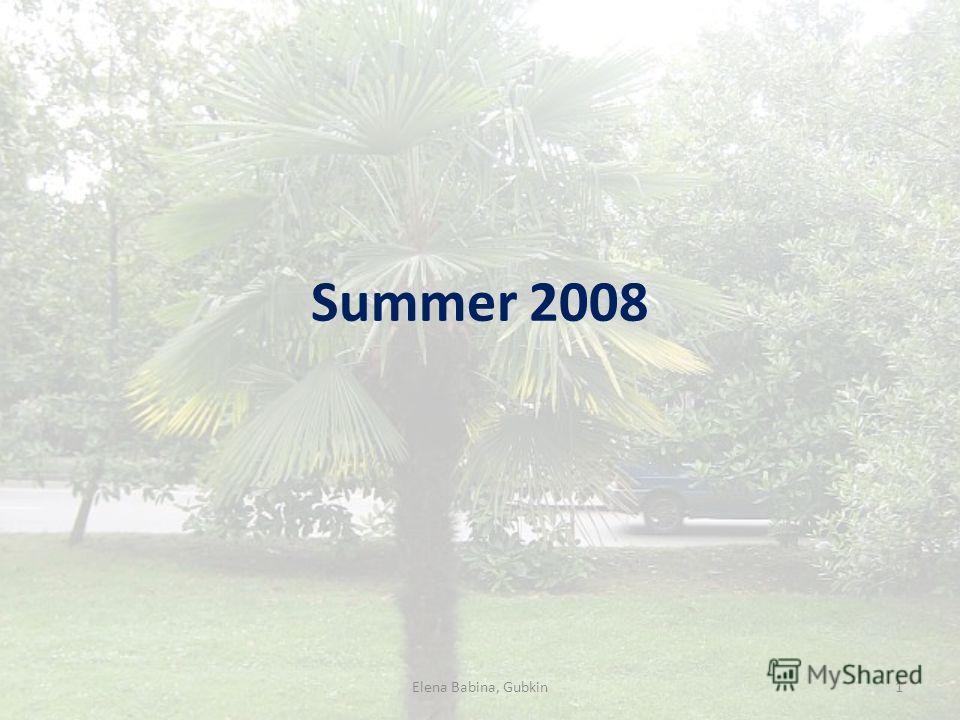 Summer 2008 1Elena Babina, Gubkin