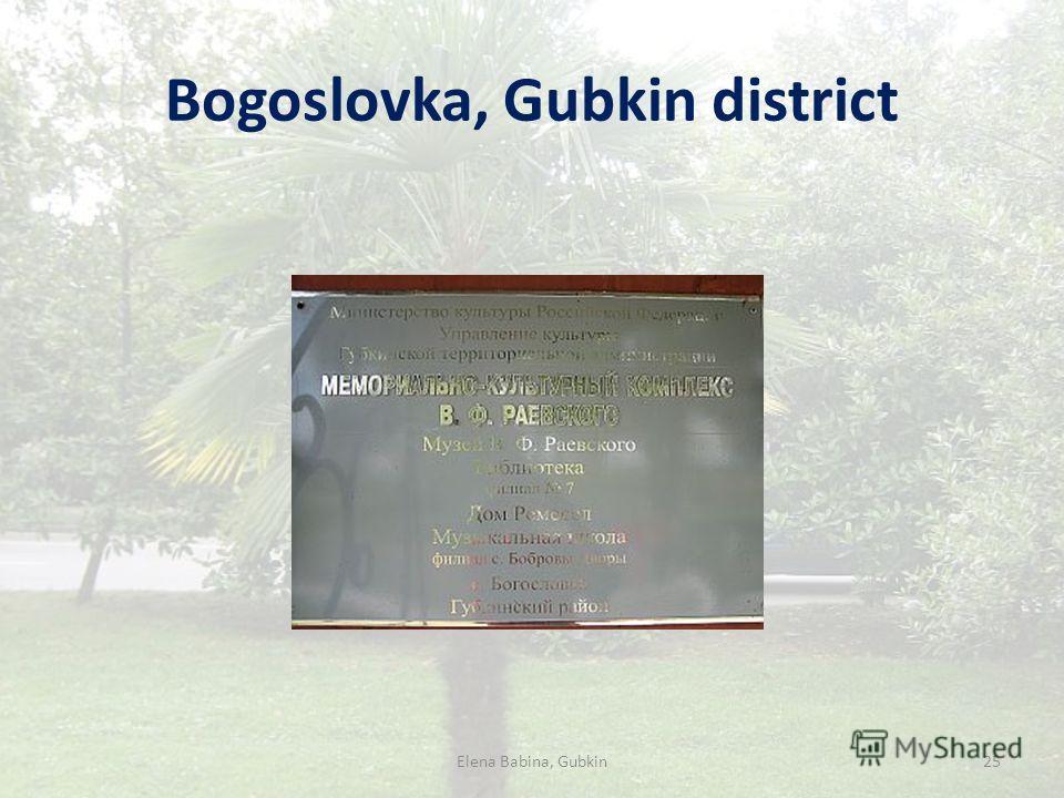Bogoslovka, Gubkin district Elena Babina, Gubkin25