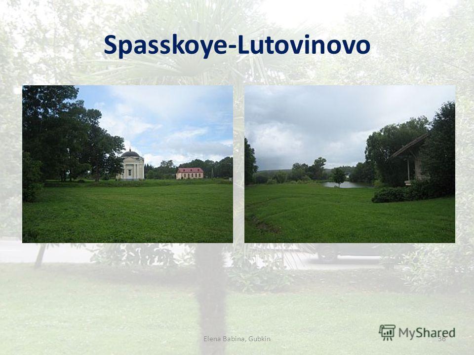 Spasskoye-Lutovinovo Elena Babina, Gubkin36
