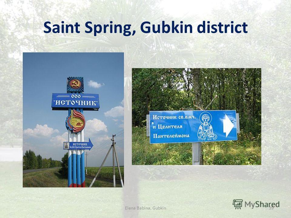 Saint Spring, Gubkin district Elena Babina, Gubkin39