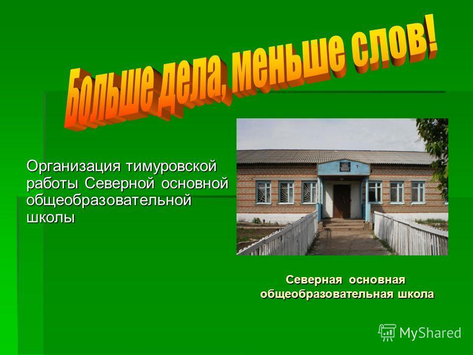 Организация тимуровской работы Северной основной общеобразовательной школы Северная основная общеобразовательная школа
