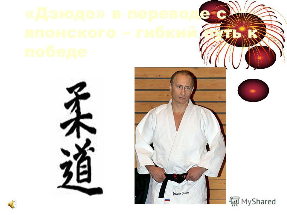 «Дзюдо» в переводе с японского – гибкий путь к победе