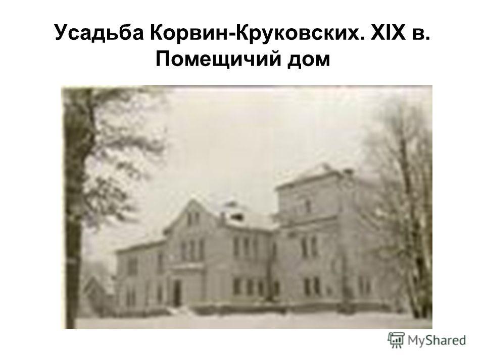 Усадьба Корвин-Круковских. XIX в. Помещичий дом