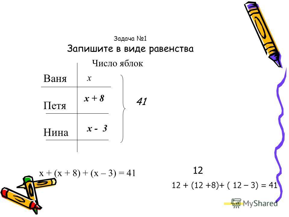 x + a = 200 Подставьте вместо буквы a число, выражающее ваш рост в сантиметрах, и решите полученное уравнение.