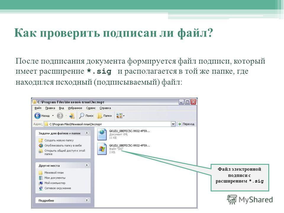 Программа для электронной подписи файлов