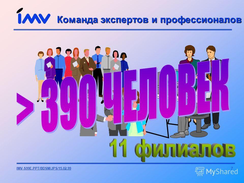 7 IMV-S99E.PPT/BDSM/JPS/15.02.99 Команда экспертов и профессионалов