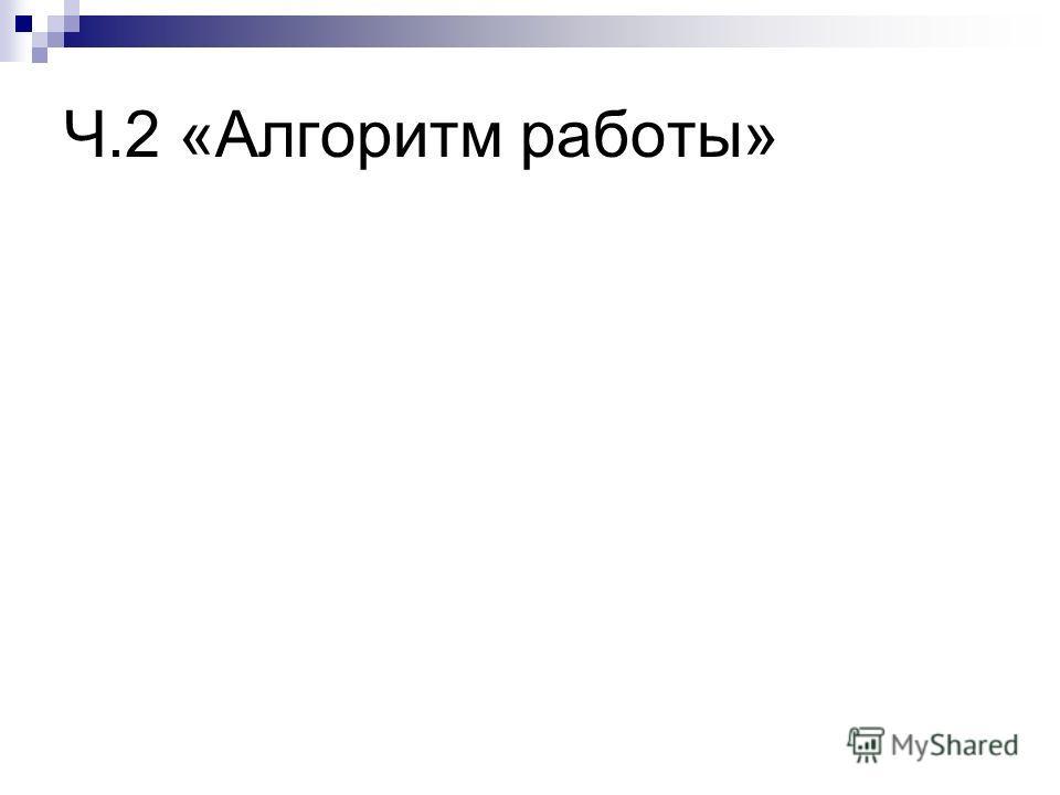 Ч.2 «Алгоритм работы»
