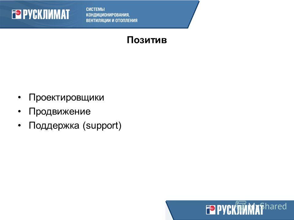 Позитив Проектировщики Продвижение Поддержка (support)