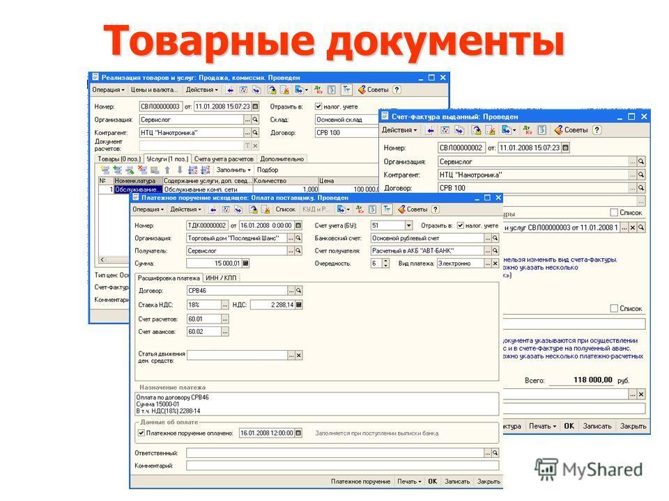 Товарные документы