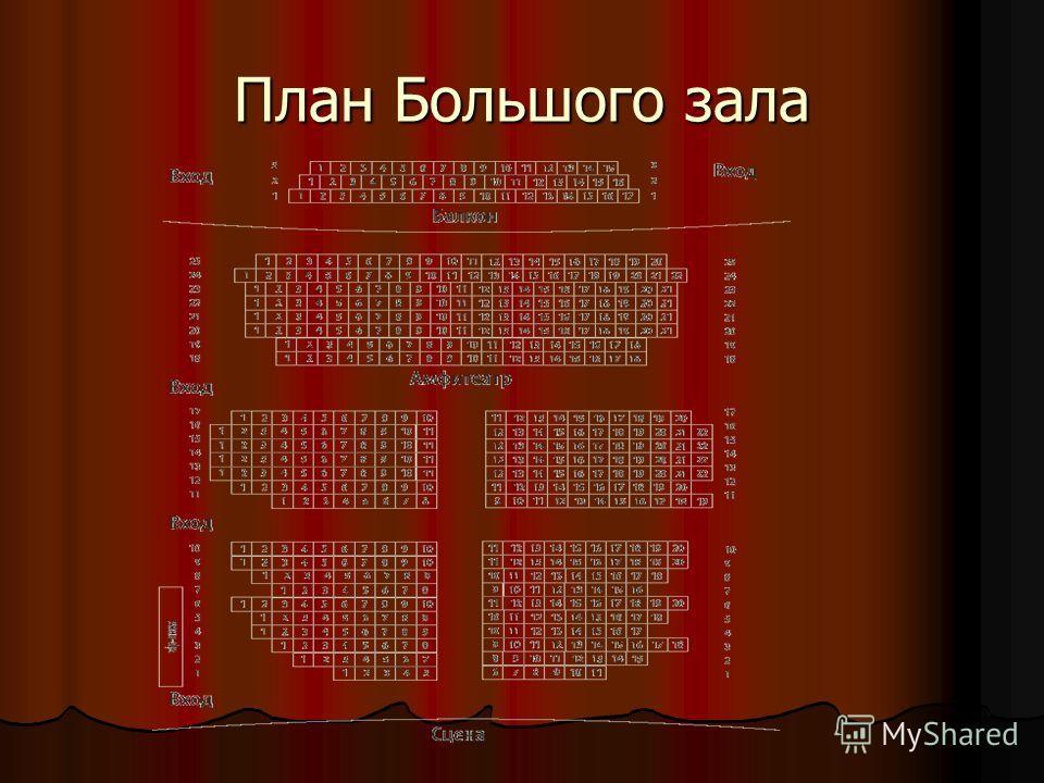 План Большого зала