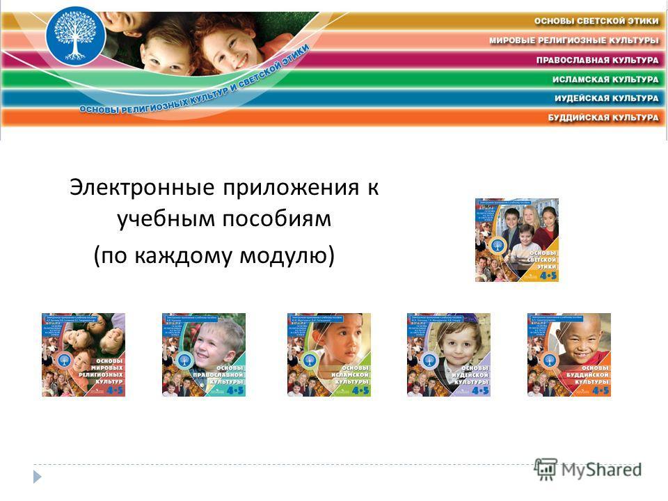 Электронные приложения к учебным пособиям ( по каждому модулю )