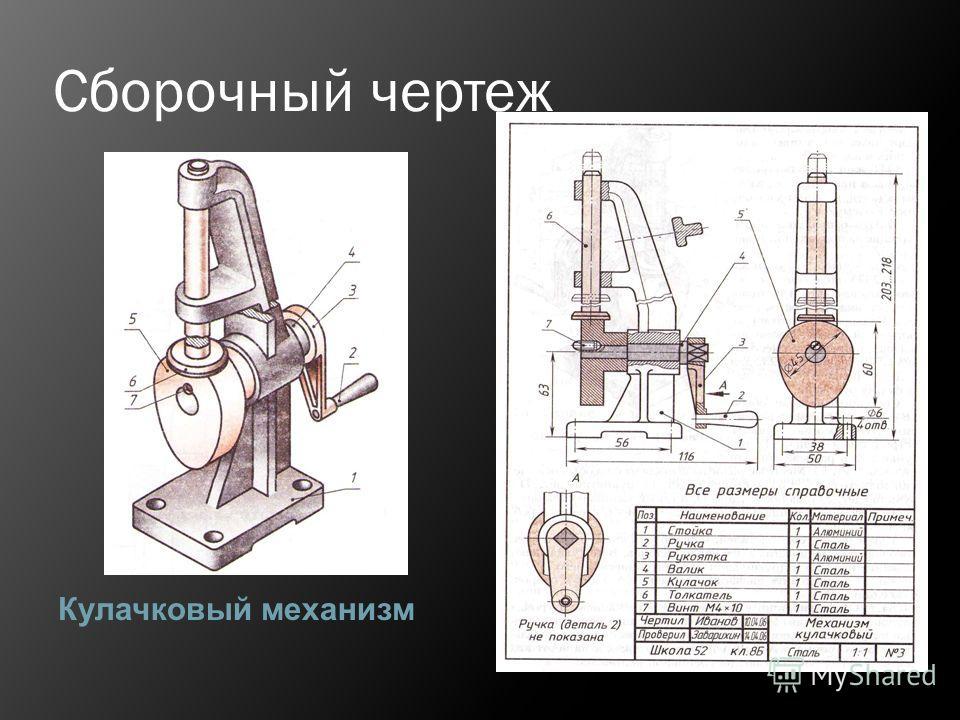 Сборочный чертеж Кулачковый механизм