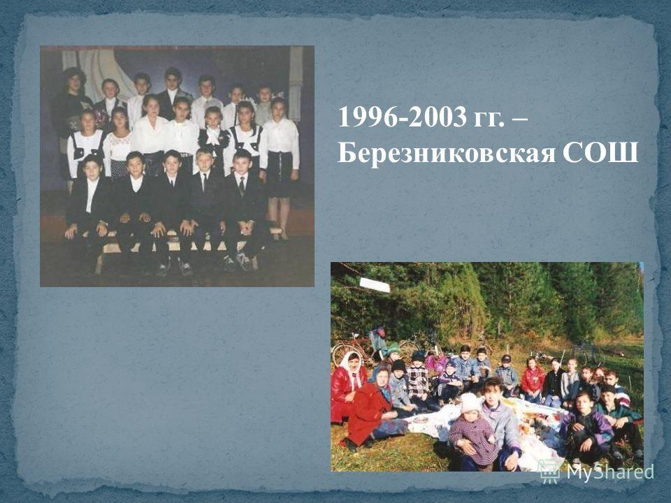 1996-2003 гг. – Березниковская СОШ
