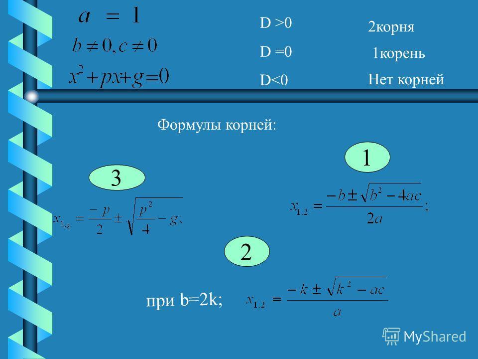 D >0 D =0 D