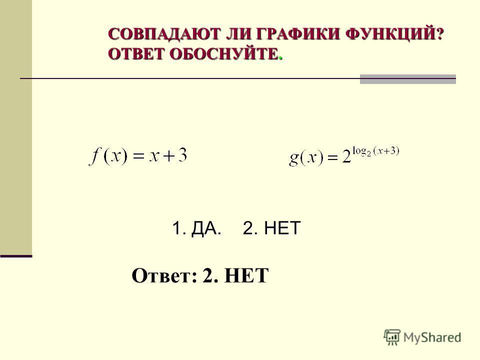 Ответ: 4 НА ОДНОМ ИЗ РИСУНКОВ ИЗОБРАЖЕН ГРАФИК ФУНКЦИИ У=LOG 2 Х. УКАЖИТЕ НОМЕР ЭТОГО РИСУНКА. ( ПРИМЕР ИЗ ДЕМОНСТРАЦИОННОГО ВАРИАНТА ЕГЭ – 2009)
